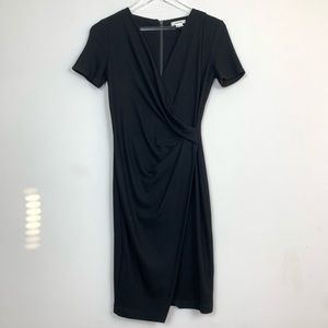 Helmut Lang Short Sleeve Faux Wrap Dress K43